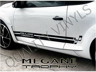 Renault trophy 3 III RS Megane Racing Side Stripes Decal Graphics Stickers RS73