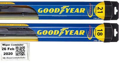 1991-1992 Toyota MR2 Goodyear Hybrid Style Wiper Blade Set of 2