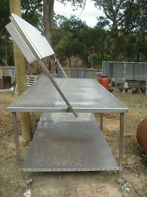 Stainless Steel Table with hedboard 1110W x 2330L x 870H Needs H/Board welding
