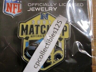 New Orleans Saints VS Carolina Panthers 11/24/19 Game Day Pin NFC SOUTH MATCHUP