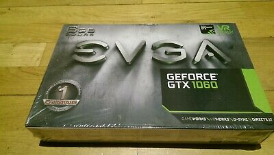 BRAND NEW EVGA GeForce GTX 1060 6GB GDDR5 Graphics Card