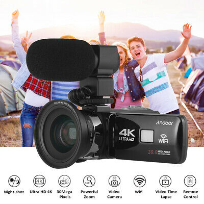 "Andoer 3 "" 4K 30MP WiFi Ultra HD 16X Zoom Digital Video Camera Camcorder US X7C6"