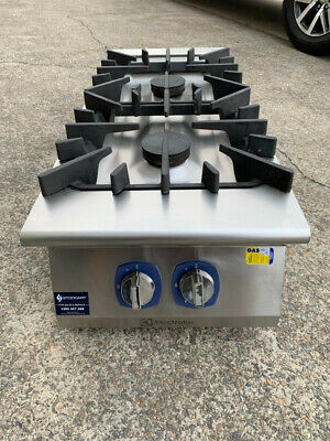 EXCELLENT CONDITION Electrolux 900XP E9GCGD2COM 2 Burner Natural Gas Boiling Top