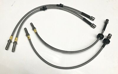FRONTS ONLY BMW e87 Lines Wezmoto Stainless Steel Braided Brake Hoses