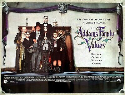 ADDAMS FAMILY VALUES original 1993 ROLLED UK quad movie poster - Angelica Huston