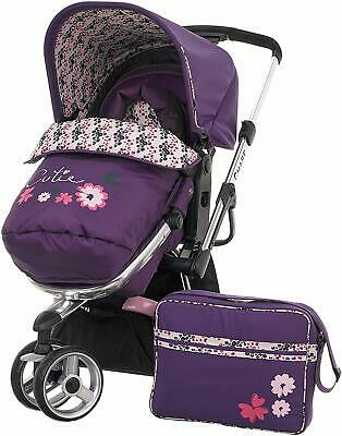 Obaby Reversible Stroller Pushchair Buggy Pram Footmuff Changing Bag Baby Bundle