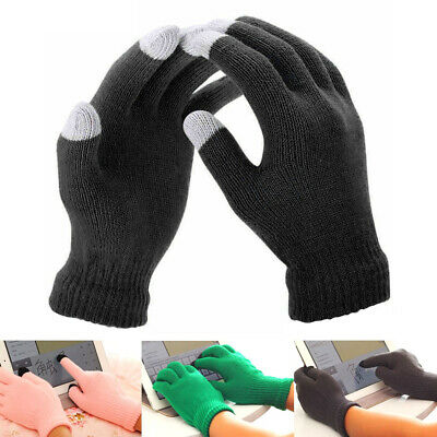 UK Winter Anti-slip Warm Touch Screen Gloves Mens Women Thermal Knitted Gloves