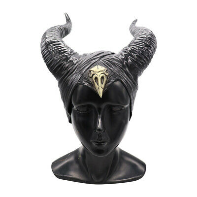Maleficent Hats Horn Evil Latex Black Queen Headpiece Cosplay HeadwearsHalloween