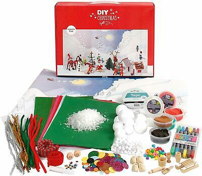 Creativ Company Large DIY Art Craft Christmas Landscape Silk Clay Set