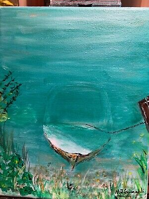 "Fine Art Painting  by M.J.Grimaldi Called  ""Submerged in Cape Cod"" 2019"
