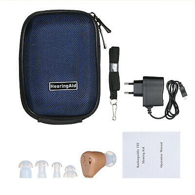 AXON K-88 Rechargeable Mini ITE In the Ear Digital Hearing Aid Personal C0I0