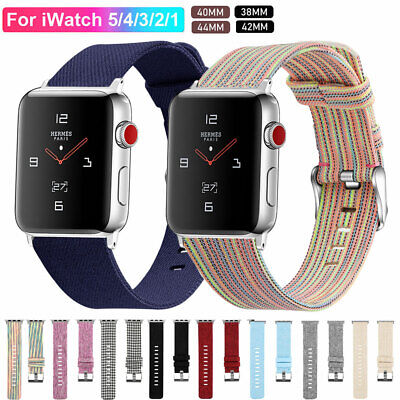For Apple Watch iWatch Series 5 4 3 2 38/40/42/44mm Soft Canvas Sport Strap Band