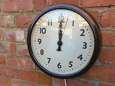 Genalex Bakelite Wall Clock Station Clock 1920s Cleaned And Rewired
