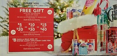 (3) BATH & BODY WORKS Coupons, Use for Best Candle Sale of the Year December 7th