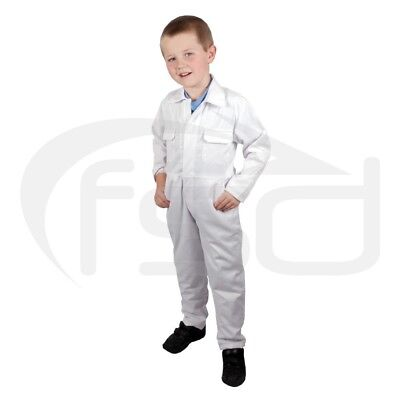 White - New Kids / Childs Boilersuit / Overalls / Coveralls (Various Ages)