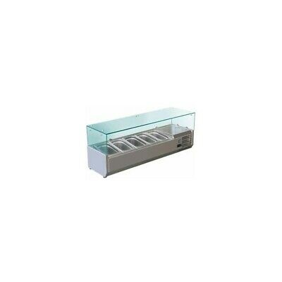 Showcase Refrigerated Carries Ingredients for Pizzeria FC 140 cm - 6 Pots Gn