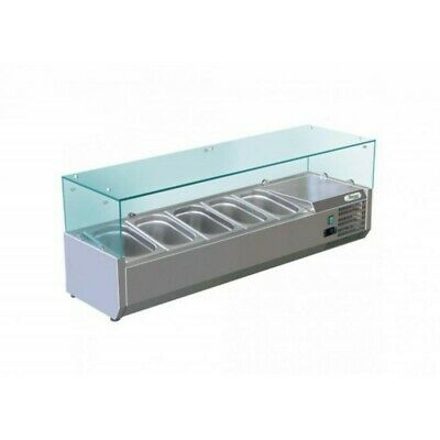 Showcase Refrigerated Carries Ingredients for Pizzeria 120 cm - 5 Pots Gn 1/4