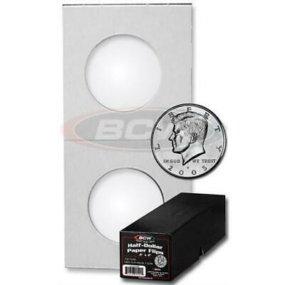 (5000) BCW Half Dollar Paper Flips 2x2 Coin Holders Archival Safe Protection