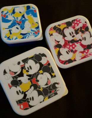 Tokyo Disney Resort Mickey Mouse Lunch Container Set of 3