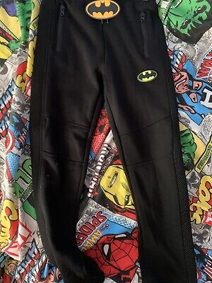 New With Tag Black Batman Trousers Joggers 7/8 Years Oos