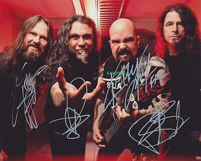 Slayer Band Reprint Signed 8X10 Photo Autographed Christmas Man Cave Gift
