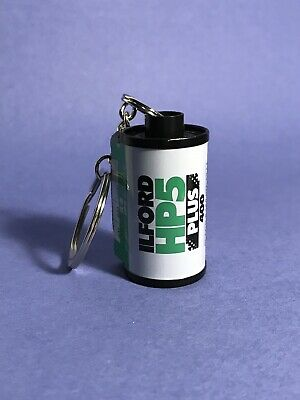 35mm Film Canister Keychain Ilford HP5 Plus 400