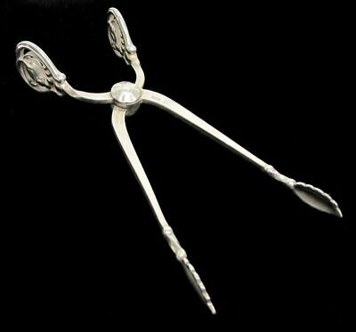 Georg Jensen Sterling Silver Blossom Sugar Nips Scissor Tongs