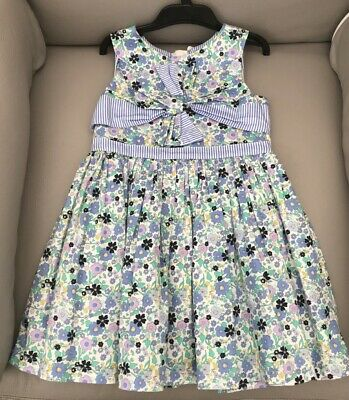 Marks & Spencer Toddler/Girls Lined Dress Blue Floral Age 3-4 yrs - Used Once