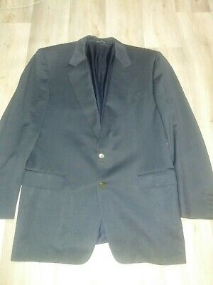 Canali Milano Blue Single Breasted 2 Button Blazer Jacket 52L 100% Wool Rothmans