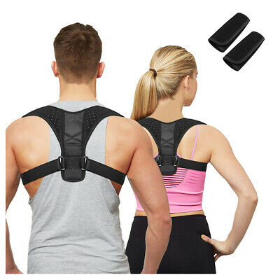 Posture Corrector Back Support Brace Figure Clavicle Upper Neck Pain Relief 315
