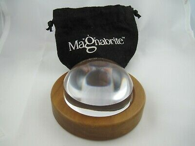 Magnabrite Light Gathering Dome 4x Magnifier Wood Base Pouch Hand Held