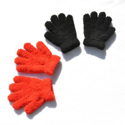 Winter Warm Kids Unisex Children Stretch Mittens Boys Girls Full Finger Gloves