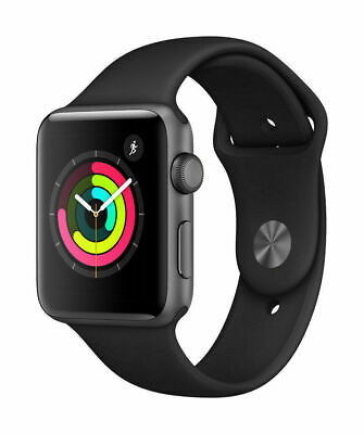 Apple Watch Series 3 38mm 42mm Space Gray Aluminium Case Rose Gold Band