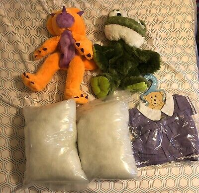 Build Your Own Stuffed Animal Kit - 2 Stuffed Animals, Stuffing And 1 Outfit