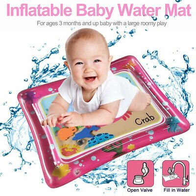 Baby Water Play Mats Premium Tummy Time Inflatable Water Mat for Infants Large