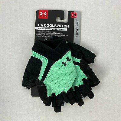 Under Armour UA COOL SWITCH Half-Finger Training Gloves 1290823-040 Size MD