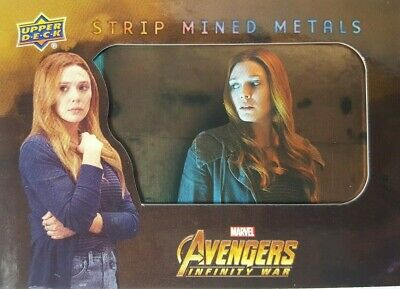Marvel Avengers Infinity War Strip Mined Metals Card SMM8 Scarlet Witch 2018