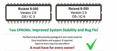 Roland S-550 - Versione 2.0 OS Firmware Update Upgrade For S550 80s Samplers