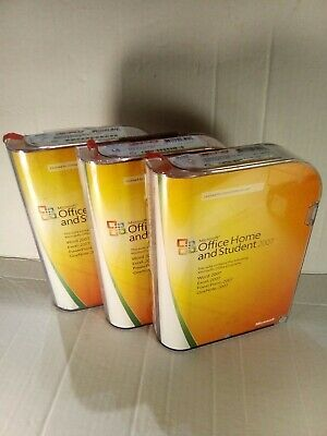 Microsoft Office Home And Student 2007 Bulk Lot 3 Units