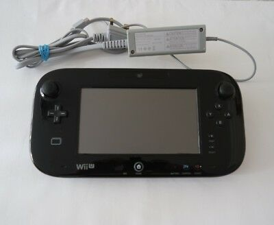 OFFICIAL Nintendo Wii U Black Gamepad Screen Unit only UK FREE POST