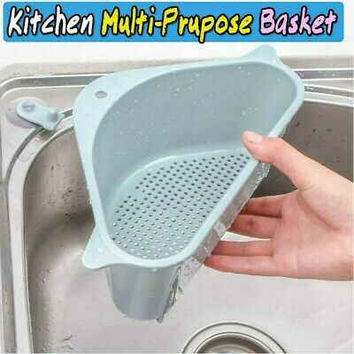 Multifunctional Triangular Sink Drain Shelf Rack Storage Box Holder Sucker