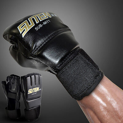 MMA Muay Thai Martial Art Training Punching Bag Sub Mitts Sparring Boxing Gloves