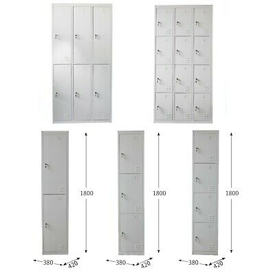 2/3/4/6/12 Door/Tier  Lockable Metal Steel Locker/Gym Staff Storage Cabinet
