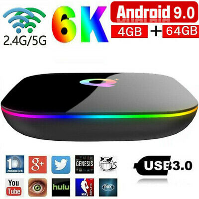 Superview Q-BOX Q+ Q Plus 4GB/32GB Amlogic Android 9.0 5GWiFi Smart TV BOX 6K HD