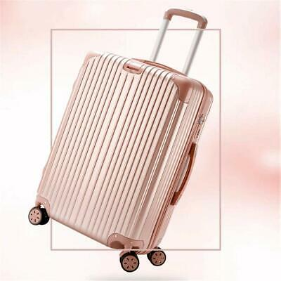 20'' Hard Shell Cabin Suitcase 4 Wheel Luggage Trolley Case Lightweight Rosegold