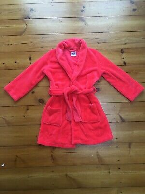 Girls New Look 915 Coral Soft Touch Dressing Gown size Small ⭐️GC⭐️