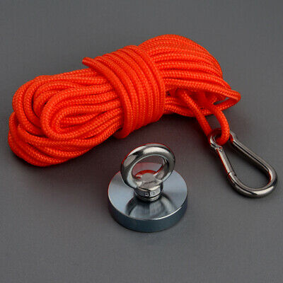 Strong Neodymium Fishing Magnet kit Recovery Salvage Metal Finder 120KG 10M Rope