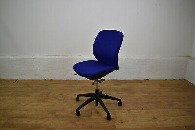 Orangebox Joy Royal Blue Fabric Office Operator Swivel Chair - Fully Adjustable