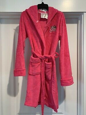 Great Wolf Lodge Scooops Spa Pink Fluffy Hooded Robe Women's Small Girls Large
