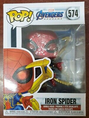 Funko Pop Marvel Avengers Endgame - Iron Spider with Nano Gauntlet IN HAND